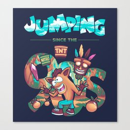 Jumping Since The 90s Canvas Print