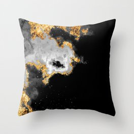 100 Starry Nebulas in Space Black and White 084 (Portrait) Throw Pillow