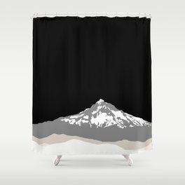 Snow Capped Mountain Landscape - Black and White Shower Curtain