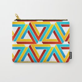 Colorful Penrose triangles- optical illusion backdrop Carry-All Pouch