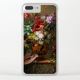 """George Jacobus Johannes van Os """"Still Life with Flowers in a Greek Vase Allegory of Spring"""" Clear iPhone Case"""