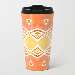 Geo Triangle Orange 2 Travel Mug