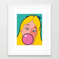 the secret life of heroes Framed Art Prints featuring The secret life of heroes - AliceGum by Greg-Guillemin
