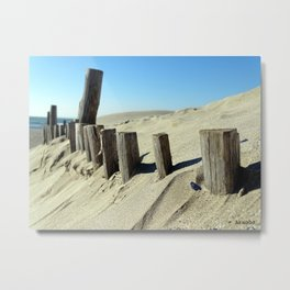 Guard beach Metal Print