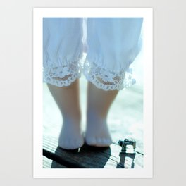 Alice's Escapades ~ Alice & The Sewing Machine  Art Print