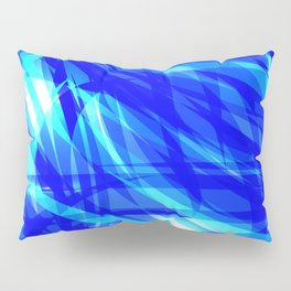 Vector glowing water background made of blue sea lines. Pillow Sham