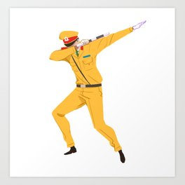 Vietnamese Traffic Cop Dab Art Print