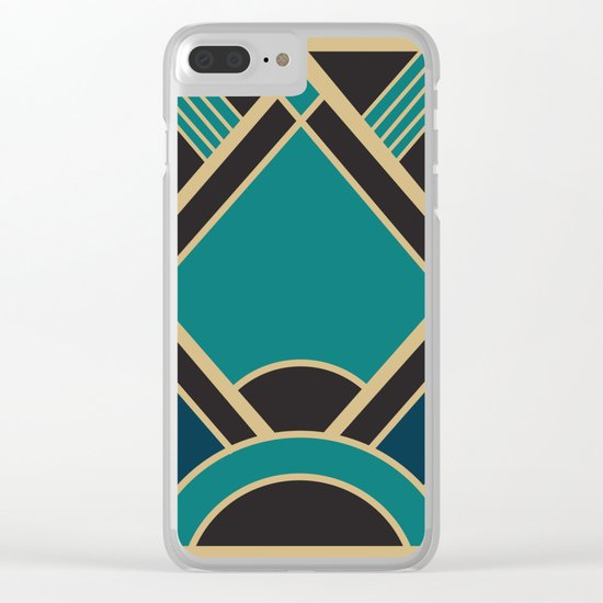 Art Deco New Tomorrow In Turquoise Clear iPhone Case