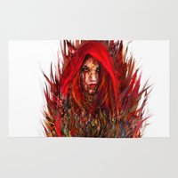 red riding hood Area & Throw Rugs featuring  Red Riding Hood by ururuty