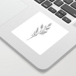 Botanical floral illustration line drawing - Mae Sticker