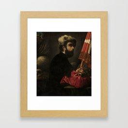 "Tintoretto (Jacopo Robusti) ""Portrait of a Man as Saint George"" Framed Art Print"