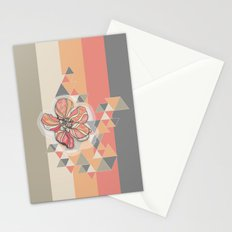 The flower that drinking coffee Stationery Cards