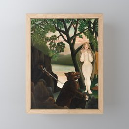 Unpleasant Surprise, Henri Rousseau, 1901 Framed Mini Art Print