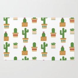 Southwestern Cactus Pattern Rug