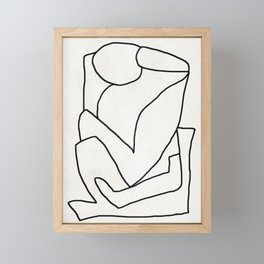 Abstract line art 2 Framed Mini Art Print
