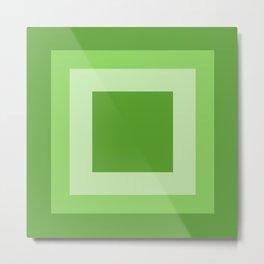 Green Square Design Metal Print