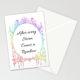 After every Storm Comes a Rainbow Stationery Cards