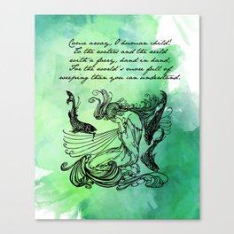 William Butler Yeats - The Stolen Child Canvas Print