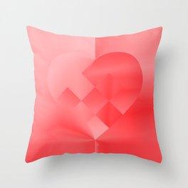 Danish Heart Love Throw Pillow