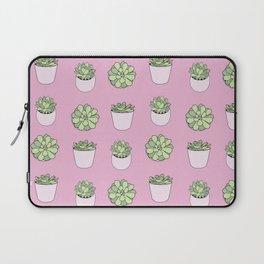 pink suculents in flowerpots Laptop Sleeve