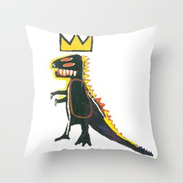 Dinosaur: Homage to Basquiat Throw Pillow