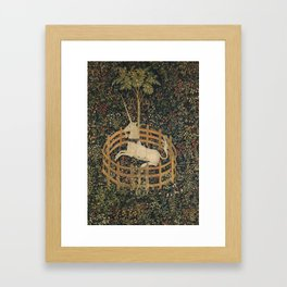 The Unicorn in Captivity (from the Unicorn Tapestries) Framed Art Print
