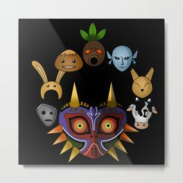 Lots of Masks Metal Print
