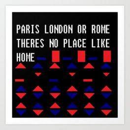London Paris Rome Art Print