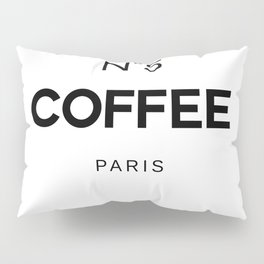 Number 5 Coffee In Paris, Eau De Vie, Water Of Life Quote, Cafe Label Quotes, Large Printable Photo Pillow Sham