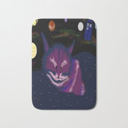 even kitties can dream of space Bath Mat