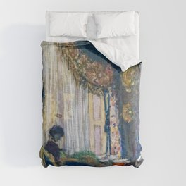 Edouard Vuillard - Mrs. Hessel At Her Window - Digital Remastered Edition Comforters