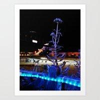 Blue Flower 1 Art Print