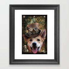 Foxy steampunk Framed Art Print