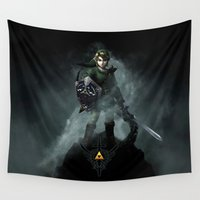 the legend of zelda Wall Tapestries featuring Legend Of Zelda - Skyward Sword by Thorin