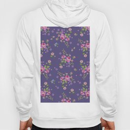 Cross stitched roses Hoody