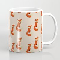 foxes Mugs featuring Foxes by Zen and Chic