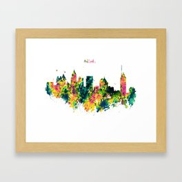 Atlanta Watercolor Skyline Framed Art Print