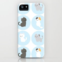 Cute Blue Kitties iPhone Case