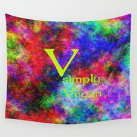 vegan Wall Tapestries featuring simply Vegan by Ars Infinity - @ Roland Zulehner