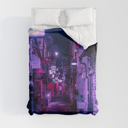Purple Hues of Golden Gai  Comforters