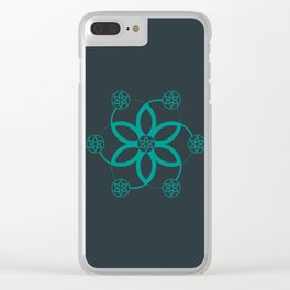Evolution | Alien crop circle | Sacred geometry Clear iPhone Case