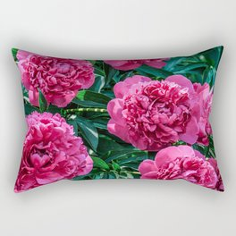 Flower Photography Spring Summer Lush Tropical Peonies Rectangular Pillow