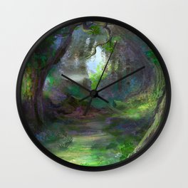 Elven Forest Wall Clock
