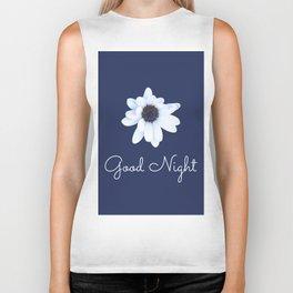 Good Night, Sleepy African Daisy Flower Biker Tank