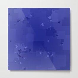 Royal Blue Square Pixel Color Accent Metal Print