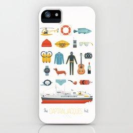 The Captain Jacques Kit iPhone Case