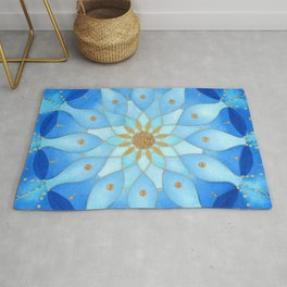 Frequency Imprint: True Self Alignment. Watercolor Mandala Rug