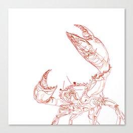 Crab Claw Canvas Print