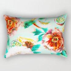 Tropical flowery fruit glitch Rectangular Pillow