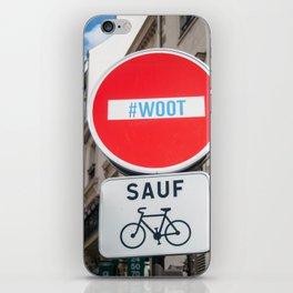Paris Street Signs iPhone Skin